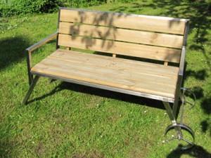 Gartenbank mit Rädern - de greiff design