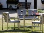 Edelstahl-Sessel KG 12 als Teil einer Sitzgruppe - de greiff design